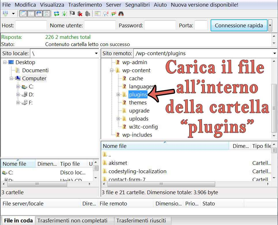Installazione Plugin con Programma FTP