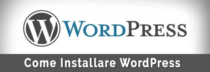 Come installare WordPress su Aruba-Installazione
