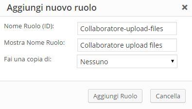 Ruoli WordPress-Aggiungi Nuovo Ruolo