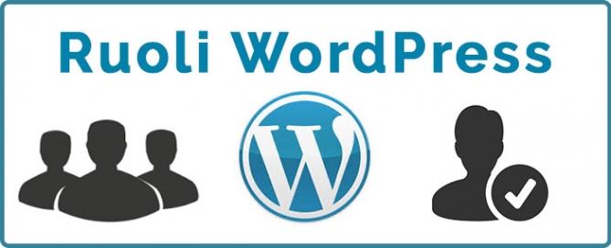 Ruoli WordPress