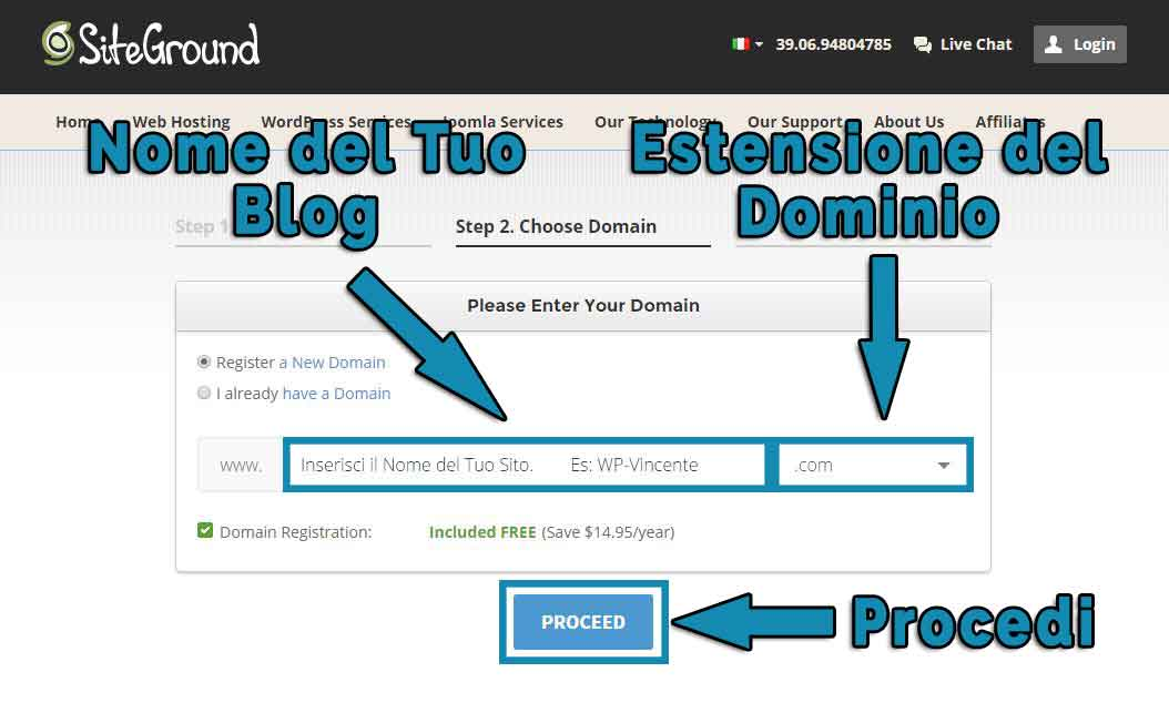 Come creare un blog-Step3