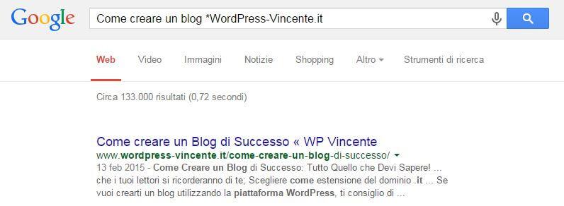 Come indicizzare un sito su Google-Esempio