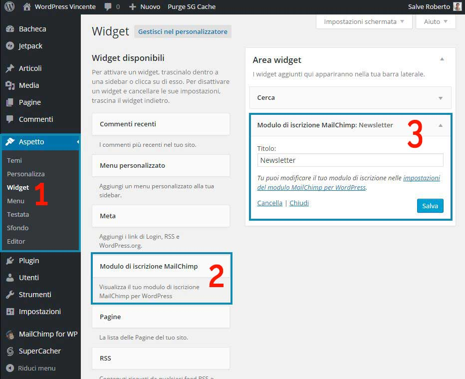 MailChimp su WordPress-Step6
