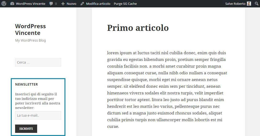 MailChimp su WordPress-Step7