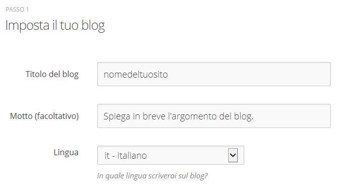 Come creare un blog gratis - Passaggio 4