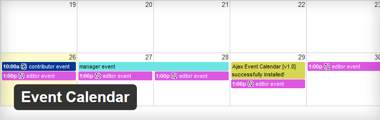 Calendario eventi WordPress- Event Calendar