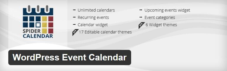 Calendario eventi WordPress- WordPress Event Calendar