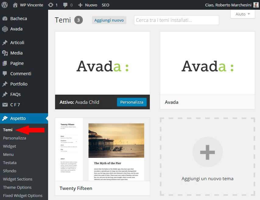 Come installare tema WordPress- Parte1