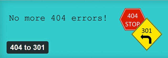 Errore 404 WordPress- 404 to 301
