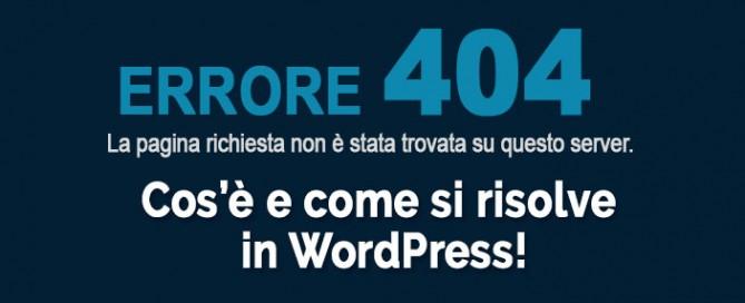 Errore 404 WordPress
