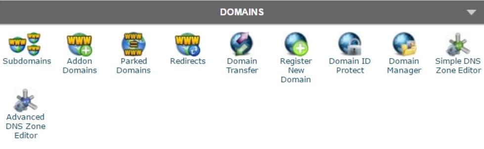 cPanel-Gestione dei domini web