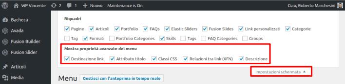 Come creare un menu in WordPress-Step2