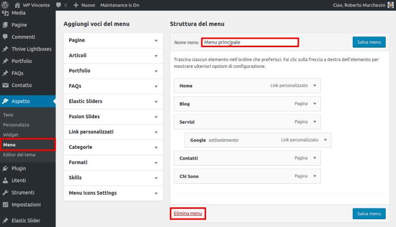 Come creare un menu in WordPress-Step9