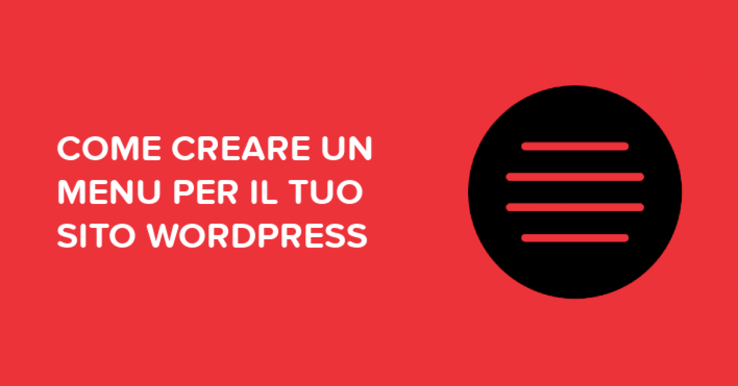 Come creare menu WordPress