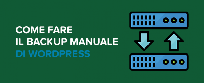 Come fare backup manuale WordPress