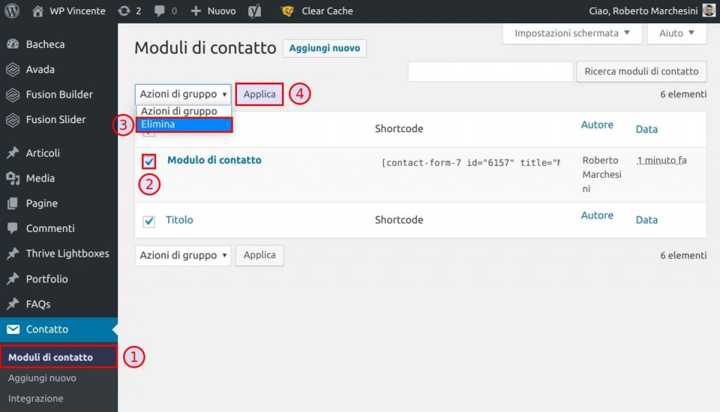 Come installare Contact Form 7 - Step2