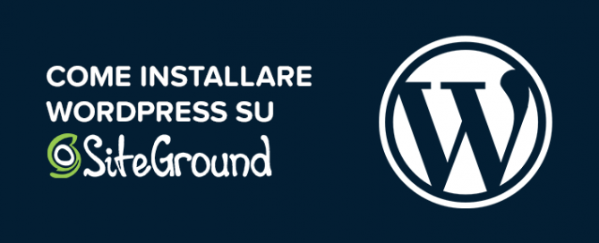 Come installare WordPress SiteGround