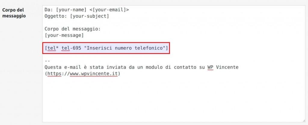 Come modificare la mail in arrivo - Step2