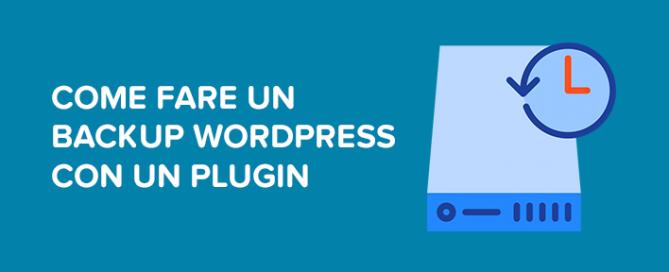 Come fare un backup WordPress con un plugin