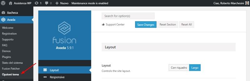 Come cambiare dimensione carattere WordPress-Step1