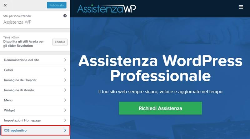 Come cambiare dimensione carattere WordPress-Step5