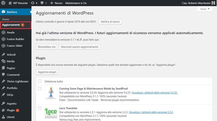 Come-aggiornare-WordPress-Step1