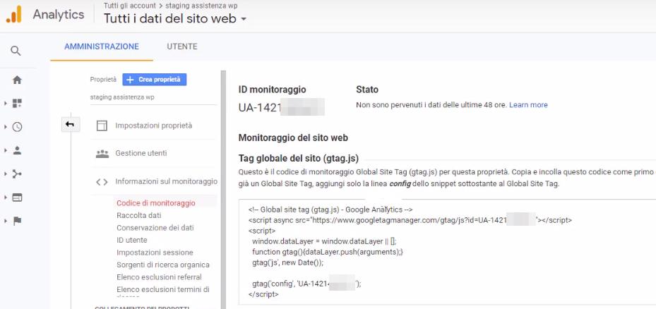 Come collegare Google Analytics WordPress-Step2