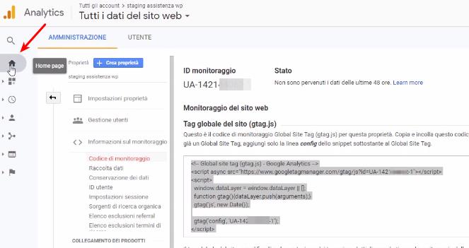 Come collegare Google Analytics WordPress-Step4