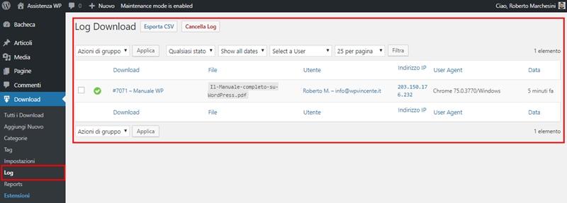 Come creare area download WordPress-Step13