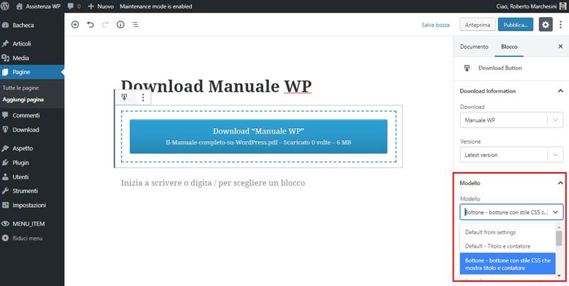 Come creare area download WordPress-Step8