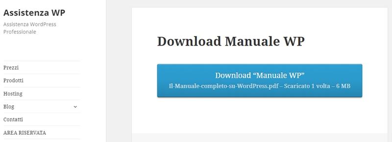 Come creare area download WordPress-Step9