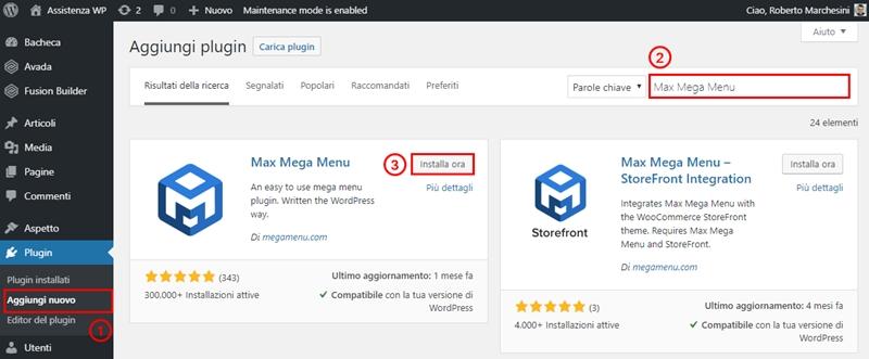 Come creare menu immagini WordPress-Step1