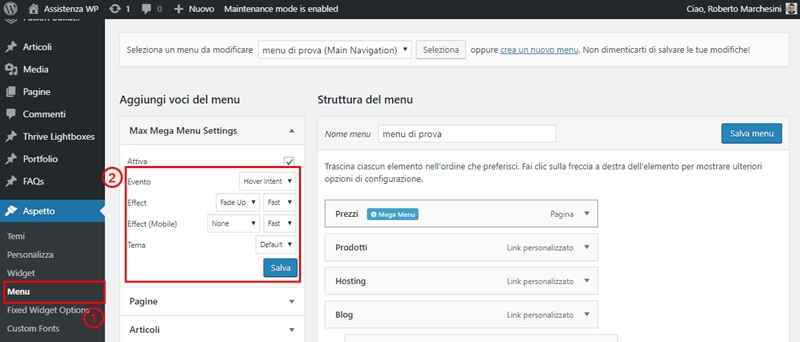 Come creare menu immagini WordPress-Step16