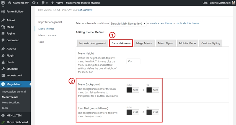 Come creare menu immagini WordPress-Step18