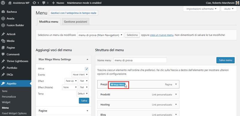 Come creare menu immagini WordPress-Step4