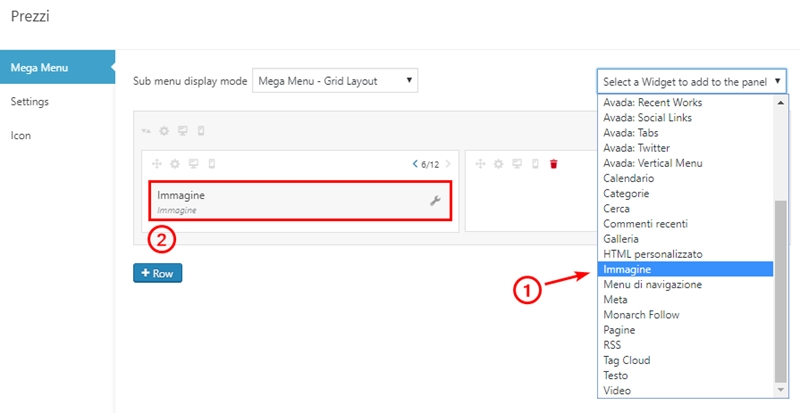 Come creare menu immagini WordPress-Step7