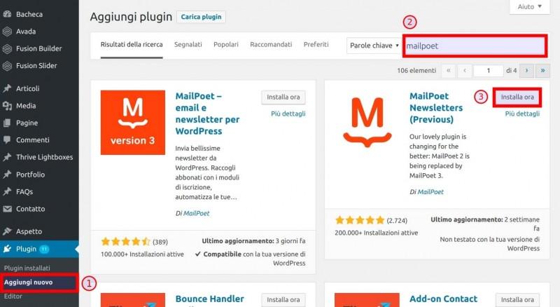 Come creare una newsletter con MailPoet 1