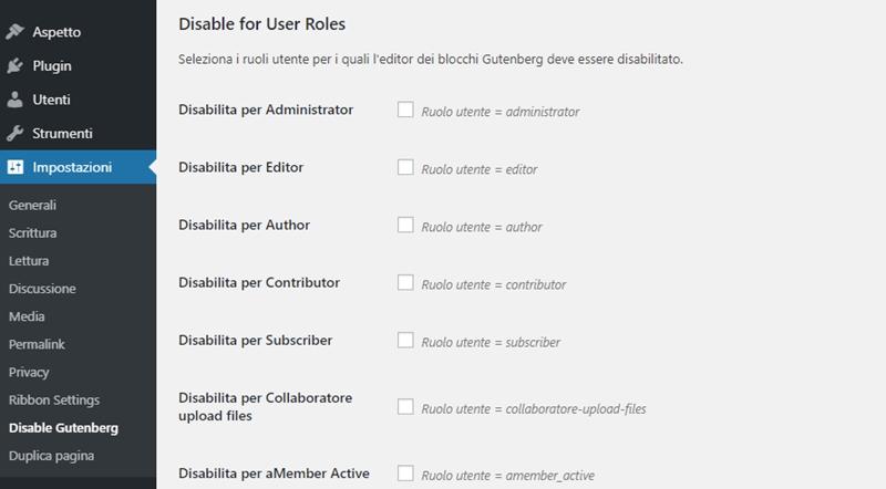 Come disabilitare Gutenberg WordPress-Step5