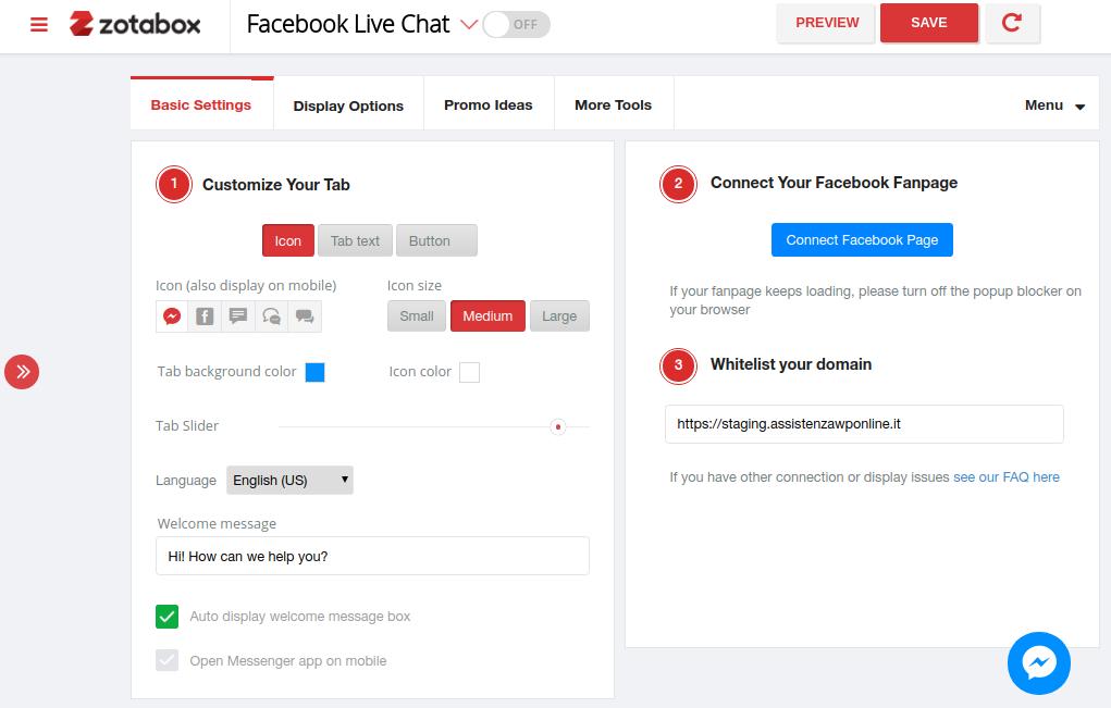 Come inserire Messenger su WordPress-Step3