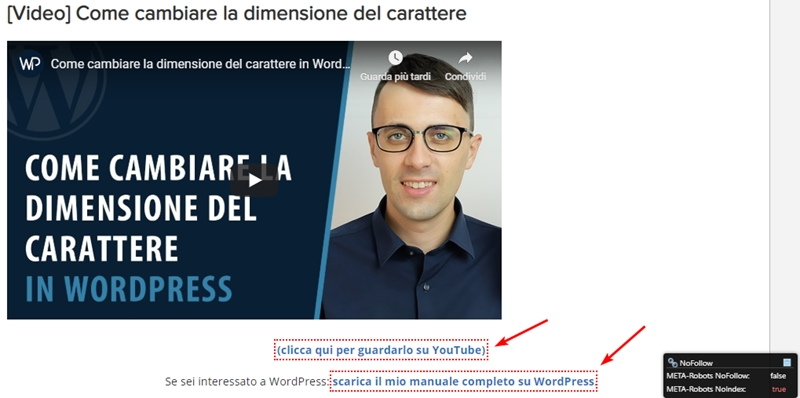Come inserire link nofollow WordPress-Step6