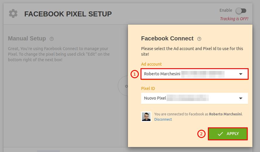 Come inserire pixel Facebook su WordPress-Step3