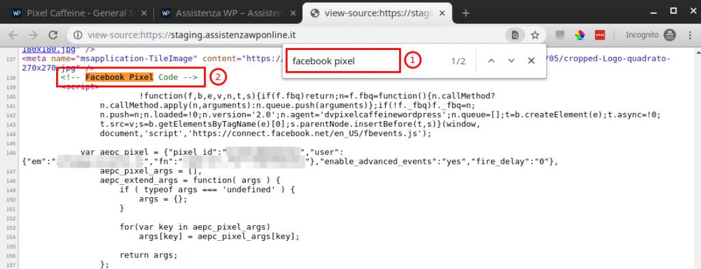 Come inserire pixel Facebook su WordPress-Step7