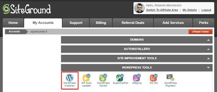 Come installare WordPress sottocartella-Step1