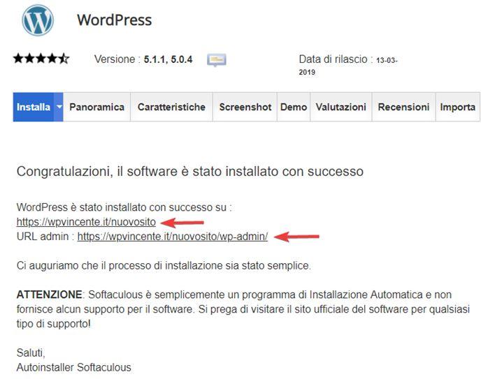 Come installare WordPress sottocartella-Step8