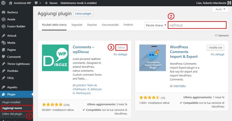 Come modificare modulo commenti WordPress-Step1