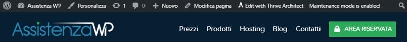 Come nascondere barra admin WordPress-Step1