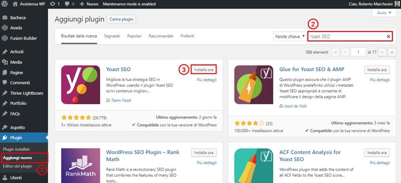 Come non indicizzare pagina WordPress-Step2