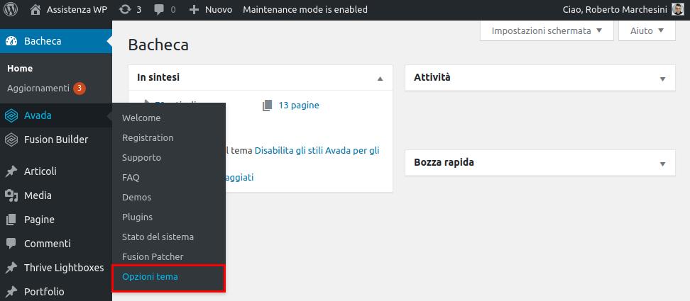 Come rimuovere barra laterale WordPress-Step1