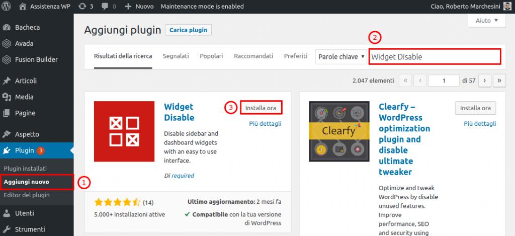 Come rimuovere barra laterale WordPress-Step4