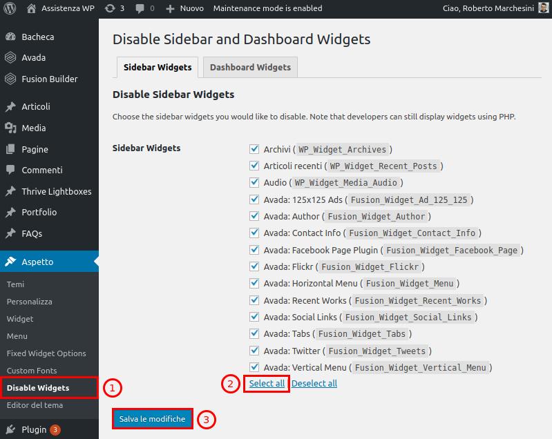 Come rimuovere barra laterale WordPress-Step5